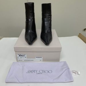 Jimmy Choo Brown Leather Booties